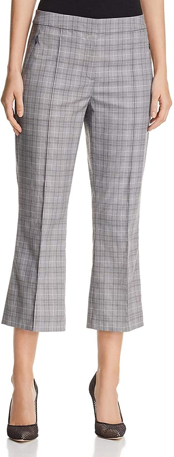 Elie Tahari Womens Lisa Glen Plaid Cropped Dress Pants