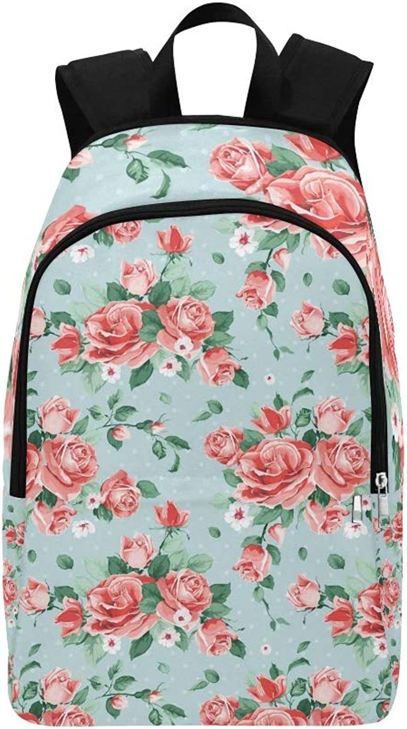 Delicate Bunch Spring Flowers Casual Daypack Travel Bag College School Backpack for Mens and Women