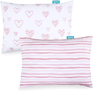 Kid Toddler Pillowcase 2 Pack, 100% Jersey Cotton Ultra Soft Baby Kids Pillow for Sleeping Fit Pillow Sized 13