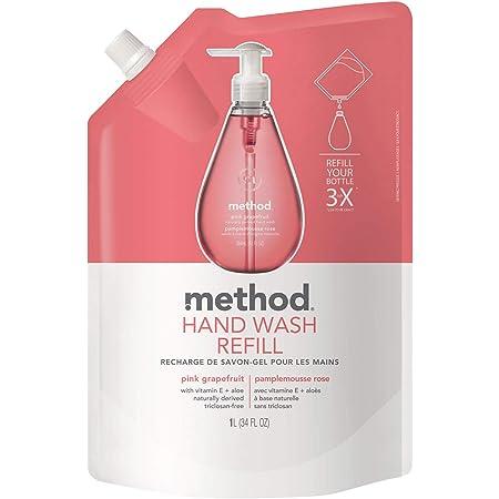 ハンドソープ 液体 おしゃれ メソッド(method) ジェルタイプ ピンクグレープフルーツの香り 手洗い 詰め替え用 1000ml 業務用 ソープディスペンサー