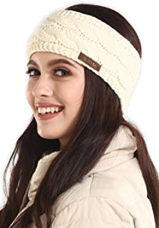 Womens Cable Knit Ear Warmer Headband - Winter Fleece Lined Headwrap by  Brook + Bay d4ecf0c4f12