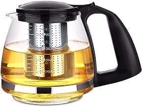 RTYUI Czajnik żeliwny czajniczek szklany zestaw do herbaty Kung Fu zagęszczanie odporny na wysoką temperaturę szklany czaj...