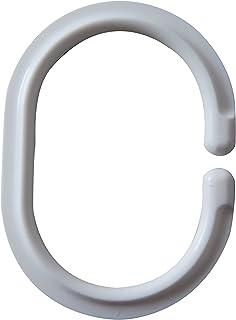 Ridder 49401-0 Anneaux pour Rideaux Blanc 4 x 0,5 x 6 cm 12 Pièces