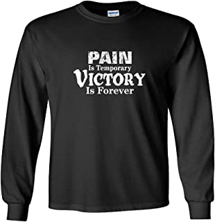 Lacrosse Long Sleeve T-Shirt: Pain is Temporary Victory is Forever - More Colors!