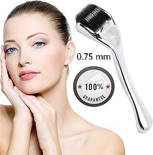 Healthy Care Derma Roller Needle Skin Care 540 Micro Needles Titanium Microneedling Tool,Silver