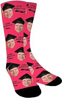 Calcetines Personalizados Con Fotos,Regalos de Graduacion,Sombrero de soltero y pergamino, Ponga Su Cara En Calcetines Para Hombres, Mujeres