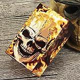 Sooiy Caja de Cigarrillos de plástico con Calavera Creativa con Tapa Caja de Cigarrillos automática Caja con Capacidad para 20 Cigarrillos,E