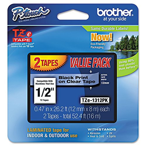 Brother Genuine P-touch TZE-1312PK Tape, 1/2