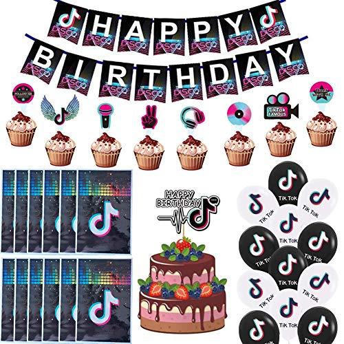 BAIBEI Tik Tok sombrero de fiesta de cumpleaños Tik Tok glo