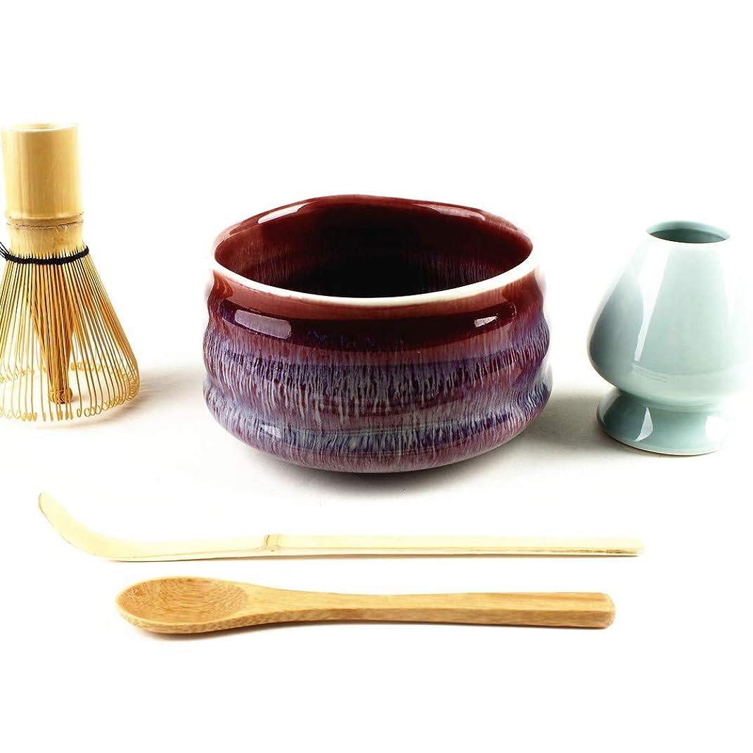より平らな工業化する豊富に茶道具 抹茶茶碗もついてくる お抹茶5点セット (抹茶茶碗 茶筅 茶筅くせ直し 茶杓) しだれ桜