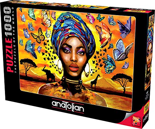 Anatolian Puzzle - Delightful Woman, 1000 Piece Jigsaw Puzzle, 1087, Brown/A (ANA1087)