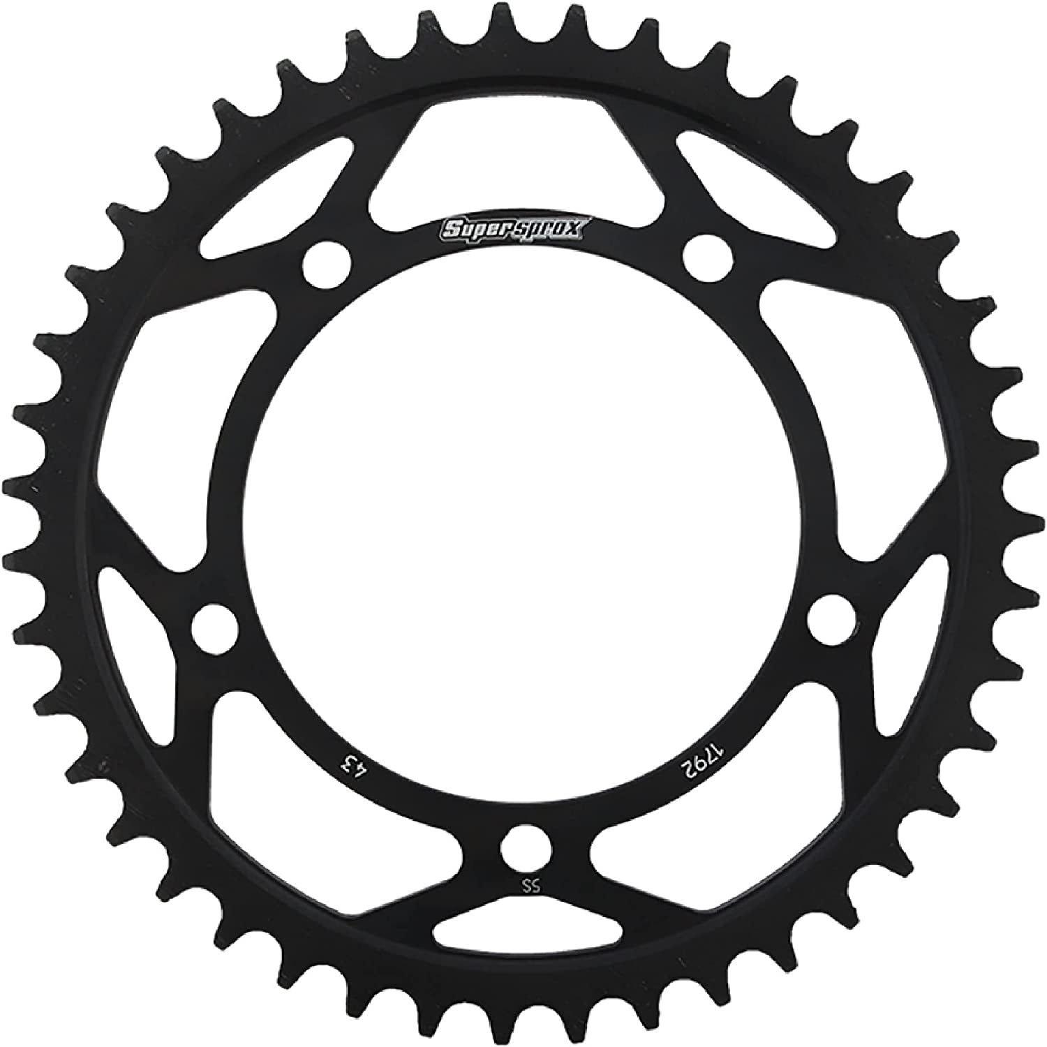Outstanding Supersprox RFE-1792-43-BLK Rear Steel For Max 51% OFF Black Sprocket Triumph