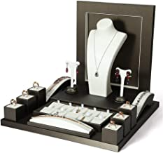 Shirleyle-HoRac Jewellery Display Stand Necklace/Ring/Earring/Bracelet/Watch/Bangle Jewelry Display Set ~ 15 Pieces for Women Girls Gifts (Color : Coffee, Size : Free)