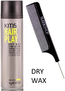 KMS Hair Play DRY WAX, Dimensional Texture & Matte Finish/Texture (STYLIST KIT) (4.3 oz / 124 g)
