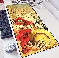 ワンピースラージ900x400mmオフィスマウスパッドマットゲームゲーマーゲーミングマウスパッドキーボードコンピューティングアニメデスククッションタブレットPCノートブックかわいい-A_700x300x3mm
