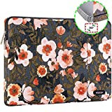 HSEOK Golden Flower Laptop Sleeve 15-15.6 Inch Case for Most 15.6' MacBook Notebooks, Spill and Drop Resistant Carrying Case for HP Lenovo ASUS DELL Toshiba