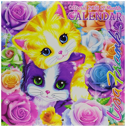 """Lisa Frank 2016 12-Month 10""""x10"""" Square Wall Calendar by Bendon"""