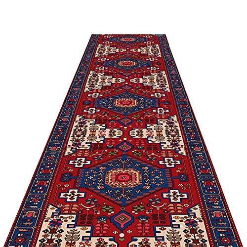 alfombra de Pasillo Estilo Oriental Felpudo Casual, Antideslizante Clásico Alfombras de Corredor por Sala/Cuarto Pasillo, Lavable en la Lavadora (Size : 60×350cm(2ft×11ft))