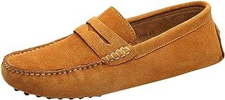 KItipeng Chaussures Homme,Pas Cher Mocassins en Daim Hommes Penny Loafers,Casual Bateau Chaussures De Ville Flats,Grande T...