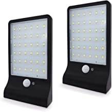 2 x 36 LED Solar Power Motion Sensor Wall Mount Light Outdoor Waterproof Garden Lamp