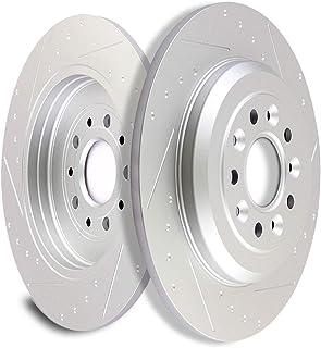 SCITOO Brake Rotors, Slotted Rotors Brake Discs Brake Kit fit for Ford Edge/Explorer/Five Hundred/Flex/Freestyle/Taurus,for Lincoln MKS/MKT/MKX,Mercury Montego/Sable,Rear
