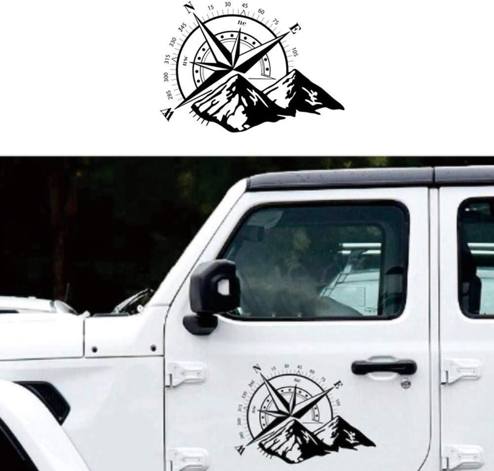 Kompass Rose Mit Bergen Vinyl Aufkleber Aufkleber Für Auto Trunk Tür Fenster Kapuze Schaufenster Lustige Aufkleber Küche Haushalt