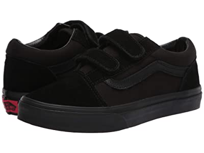 Vans Kids Old Skool V (Big Kid) (Black/Black) Kids Shoes