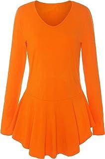 ReliBeauty Womens V-Neck Long Sleeve Peplum Tops