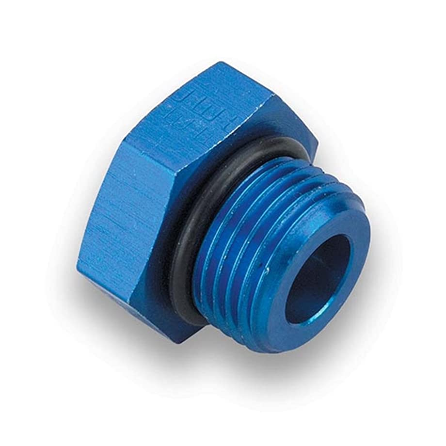 Earl's 581406 Blue Anodized Aluminum -6AN O-ring Seal Port Plug Adapter - Set of 2