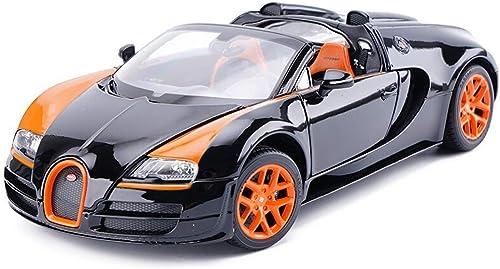 YaPin 01 18 Bugatti VeyronGrandSportVitesse Modèle de Voiture Simulation Alliage Modèle de Voiture OrneHommests de Voiture à Envoyer des Cadeaux 25x12x6.8CM Modèle de Voiture ( Couleur   noir )