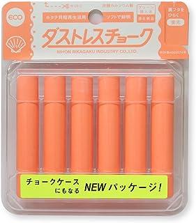 日本理化学 ダストレス蛍光チョーク 橙 6本 DCK-6-RG