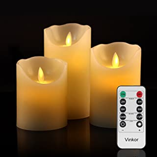 LEDキャンドルライト 癒しの雰囲気パーティーキャンドル 3点セット 専用リモート