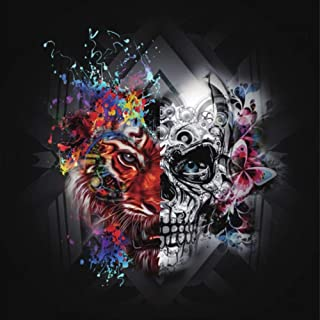 Diamond Painting Kits for Adults Kids, 5D DIY Tiger & Skull Diamond Art Accessories with Round Full Drill for Home Wall Decor - 11.8×11.8Inches