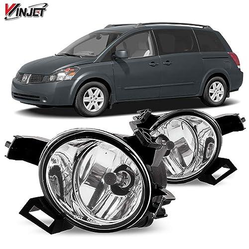 1Pair Front Bumper Foglight Fog Light Bezel Trim Rings for Honda CRV 2005-2006