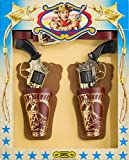 Villa Cowboy Cinturone c/2 Fondine, 2 Pistole Metallo e Accessori Old West 60