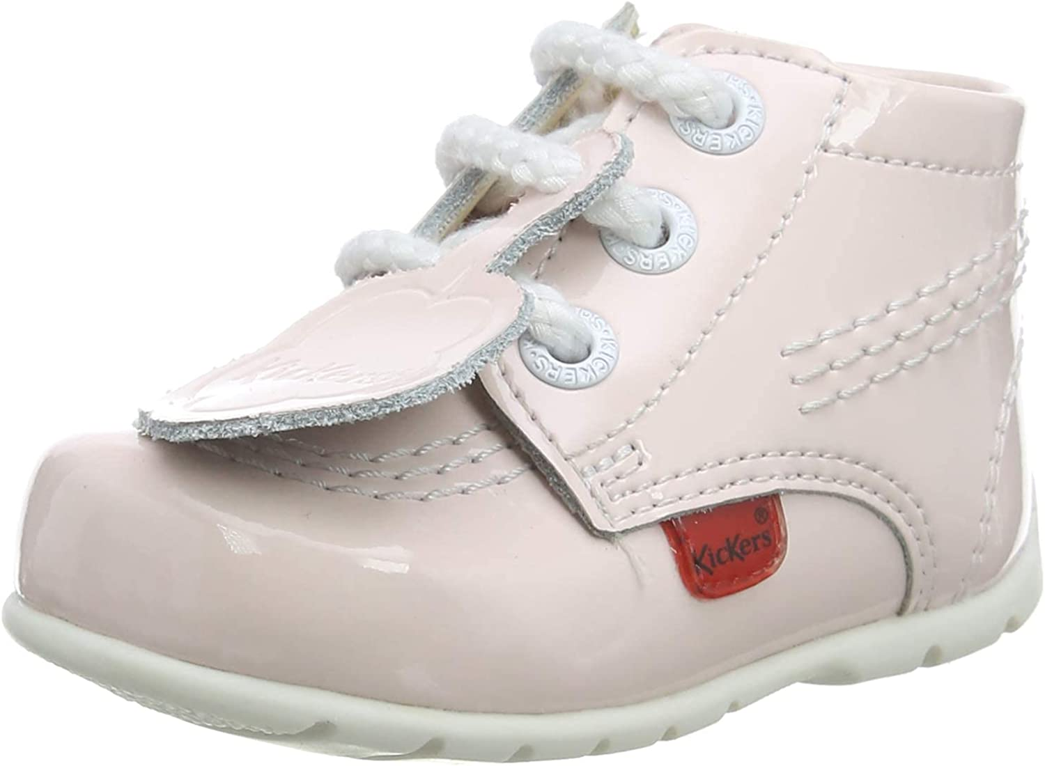 Kickers Kick Hi B Light Pink service Shoes Leather Max 81% OFF First Walkers Baby