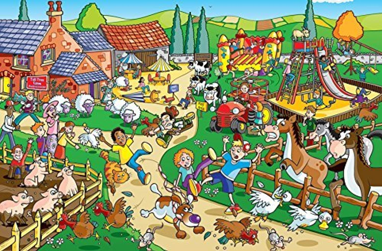 Cobble Hill Puppy on the Loose Jigsaw Puzzle, 60Piece