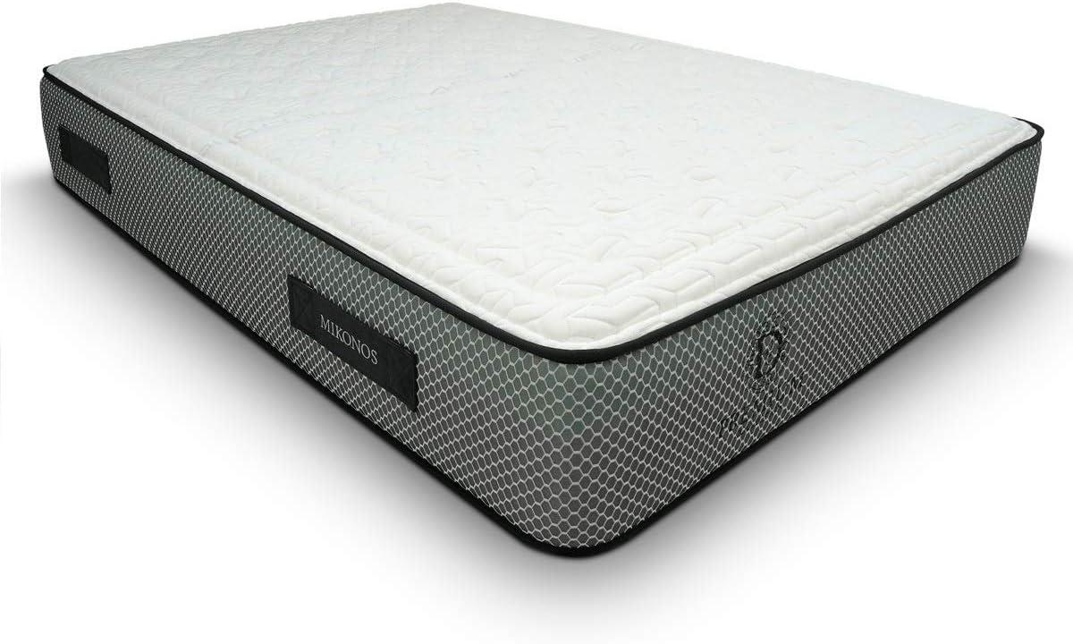 Duérmete Online Premium Colchón Viscoelástico Mikonos   Adaptabilidad y Confort   Altura 29cm   Tejido Termorregulador, Blanco, 135x180
