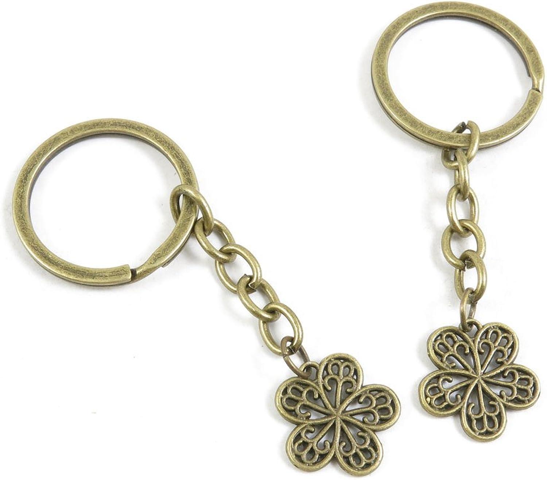 220 Pieces Fashion Jewelry Keyring Keychain Door Car Key Tag Ring Chain Supplier Supply Wholesale Bulk Lots U0GZ9 Peach Blossom
