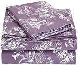 Pinzon Cotton Flannel Bed Sheet Set - Twin, Floral Lavender