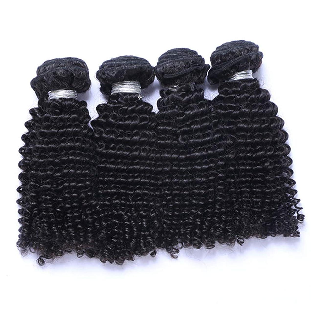 役職エンゲージメントうねる髪織り未処理ブラジルディープカーリーヘアバンドル本物の人間の髪バンドルバージンブラジル髪バンドル1ピース/パックナチュラルカラー