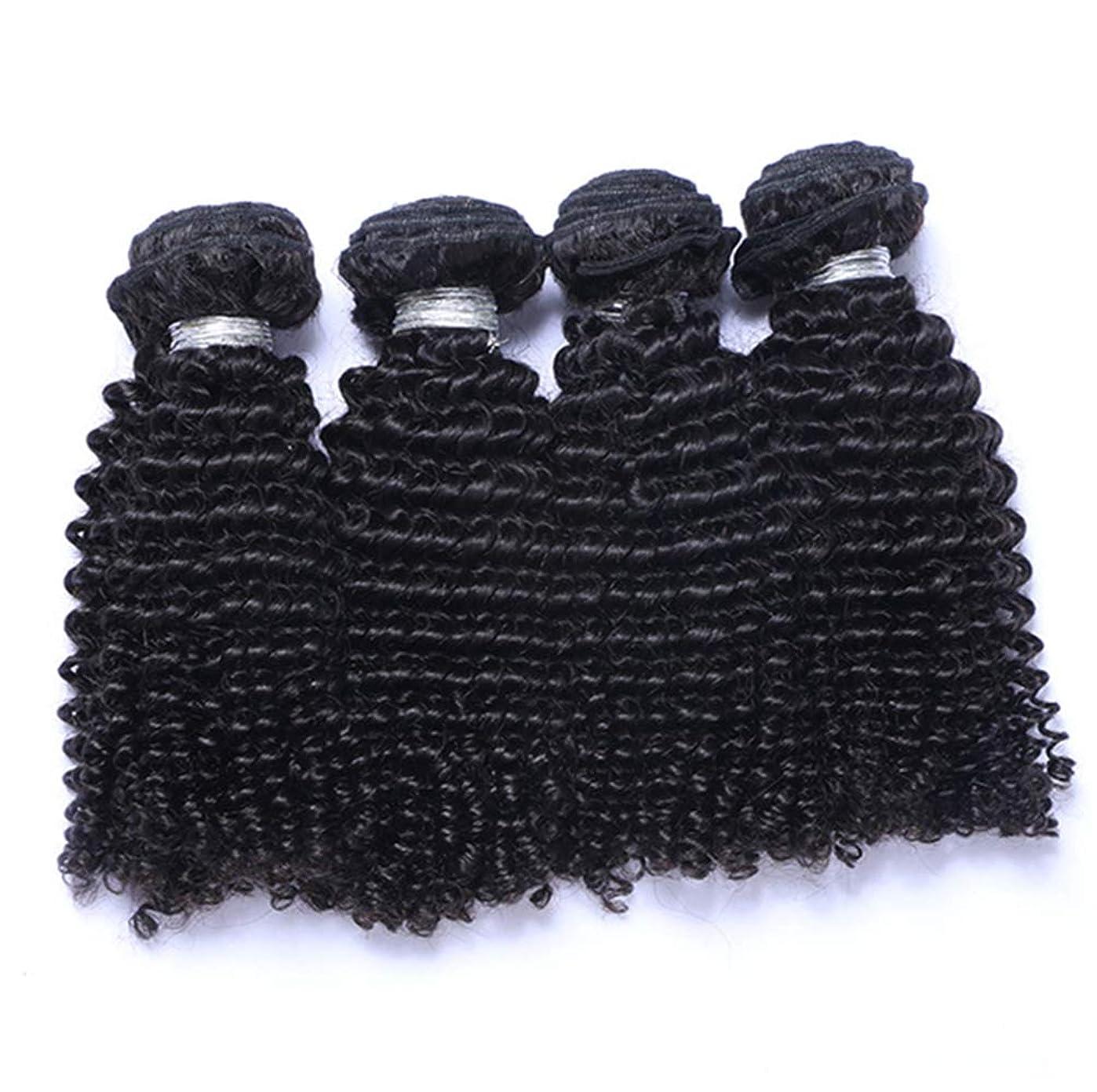 ハイランドおっと中国髪織り未処理ブラジルディープカーリーヘアバンドル本物の人間の髪バンドルバージンブラジル髪バンドル1ピース/パックナチュラルカラー