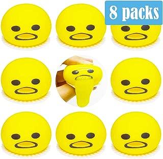 ZONESTA 8 Packs Vomit Egg Fidget Toy Relief Stress Toys Emoji Soft Silicone Toy Novelty Gag Toys Spitting Yolk Egg Prank Squeeze Birthday Gift Toys Halloween Joke Toy with Easy Instruction