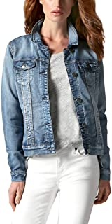 Buffalo Ladies' Knit Denim Jacket (S, Blue)