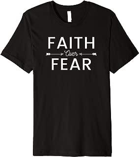 Jesus Faith Hope Love Blessed Faith Over Fear Christian Premium T-Shirt