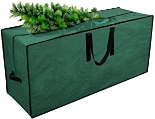 "Primode Artificial Xmas Tree Storage Bag with Handles | 65"" x 15"" x 30"" Holiday Tree Storage Case 