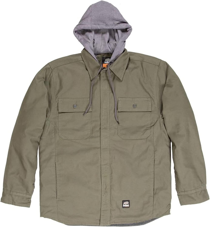 Berne Men's Throttle Hooded Shirt Jacket