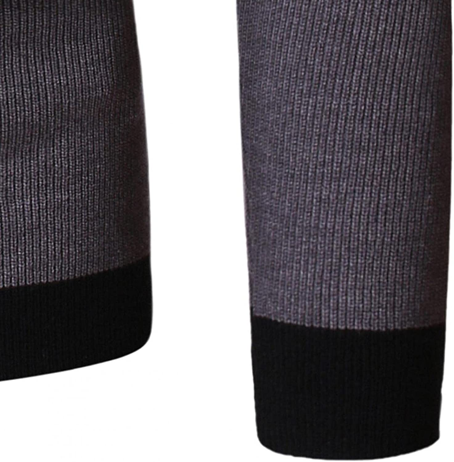Men Sweaters Autumn Winter Round Neck Knitted Sweaters Color Block Pullover Tops,Soft Cotton Pullover Sweater