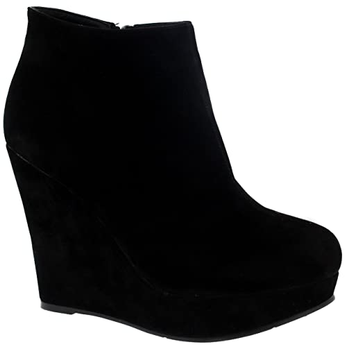 85aca32f2fd Black Wedge Shoes for Women: Amazon.co.uk