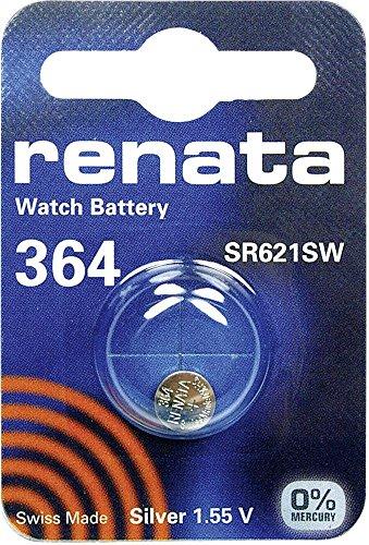 364 (SR621SW) Batteria Pulsante / Ossido di Argento 1.55V / per Orologi, Torce, Chiavi della Macchina, Calcolatrici, Macchine Fotografiche, etc / iCHOOSE